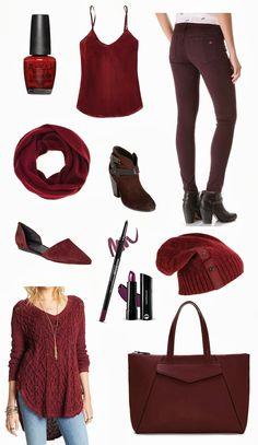 fall for burgundy. (www.justjem.com) - OPI, Rag & Bone, Aritzia, Vince, bareMinerals, Nordstrom, Free People, Zara