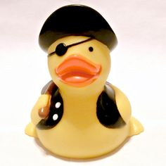 """""""ARGGGGGH!"""" This Pirate Duck will help you fight off your enemies with its axe! Add this pirate to your collection today! Our Pirate Rubber Duck Collection are great for Duck Race Festivals or any kin"""