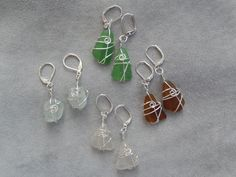Genuine nickel-free sea glass earrings Glass Earrings, Drop Earrings, Sea Glass, Personalized Items, Inspired, Beach, Free, Inspiration, Color