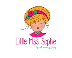 OOAK premade logo design, cute little girl. This is a one of a kind, unique logo design which will not be resold.  -