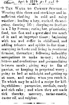 Printed in the Orangeville Sun, 1876, and from the collection of the Dufferin County Museum & Archives.