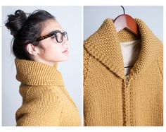 vintage 60's mustard knit sweater - $116.00