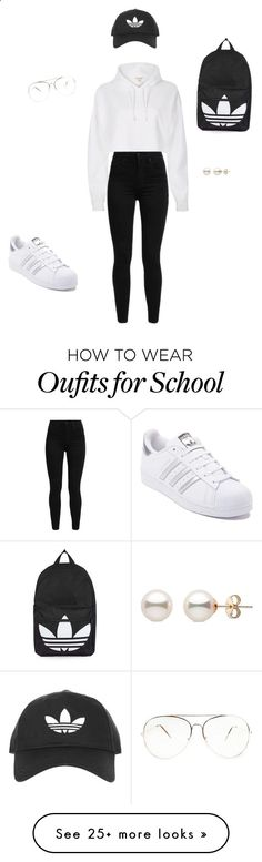 I lil school , or work out look by genesisemuedue on Polyvore featuring River Island, Topshop, Levis and adidas