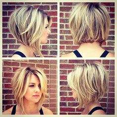 Stacked Bob Hairstyles For Women, With a couple styling tricks you're able to transform the medium hairstyles in various styles. The medium hairstyles are a rather excellent alternate . Short Hair Cuts For Round Faces, Round Face Haircuts, Short Hair With Layers, Hairstyles For Round Faces, Bob Haircut For Round Face, Bobs For Round Faces, Round Face Bob, Short Stacked Hair, Hair For Round Face Shape