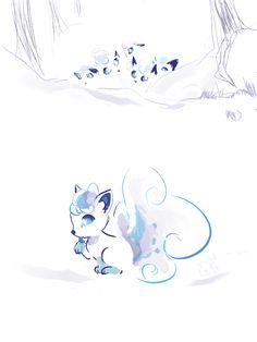 "cristalgemsgalore: ""I had to doodle the snow fox """