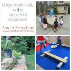 Large motor play for preschoolers