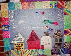 Art Lesson Plan: Tar Beach - Faith Ringgold...could do background as arrays...quilt border and blue/black squares for inner part of array