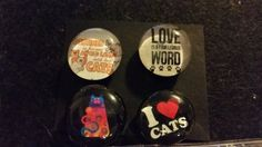 Check out this item in my Etsy shop https://www.etsy.com/listing/227008099/set-of-4-cat-lovers-strong-glass-magnets