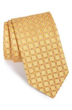 Men's Canali Geometric Silk Tie