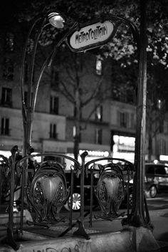Mouton Duvernet Métro in Paris, France - 1909 - by Art Nouveau architect Hector Guimard (French, 1867-1942) - @~ Mlle
