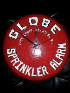 Globe sprinkler fire alarm clock