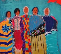 Five Generations by Lee Claremont (Mohawk) kK Native American Paintings, Native American Artists, Modern Indian Art, Painting Gallery, Colorful Paintings, Native Art, First Nations, Map Art, Painting Inspiration