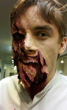 Spontaneous SFX Makeup. Trauma. SFX Makeup Artist MJ DuBarr sfx special effects #specialfx #specialeffects makeup #face effects #unwoundfx