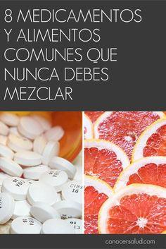 7 medicamentos y alimentos comunes que NUNCA debes mezclar #salud