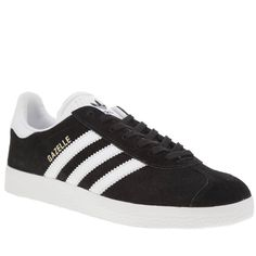 170c1fb5686 black   white gazelle suede