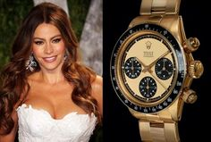 Sofia Vergara was seen wearing a golden Rolex Daytona and has made the list of celebs with the most expensive watches. #watches #sofiavergara #jewelry