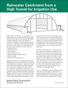 Rainwater Catchment from a High Tunnel for Irrigation Use - Thumbnail
