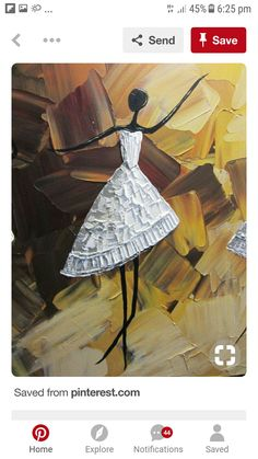 ORIGINAL Abstract Dancer Painting White Dress Ballet Dance Textured Palette Knife Brown Gold - Christine Krainock Art - Contemporary Art by Christine - 3 Contemporary Wall Art, Modern Art, Contemporary Artists, African Art, African Culture, Painting & Drawing, Knife Painting, Texture Painting, Painting Inspiration