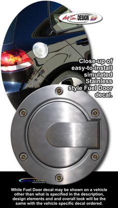 Simulated Billet Style Fuel Door Decal 1 for Chevrolet Cruze Chevrolet Cobalt, Chevrolet Cruze, Car Decals, Design Elements, Doors, Vehicles, Volkswagen Golf, Rabbit