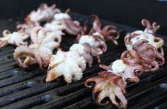 Grilling Octopus