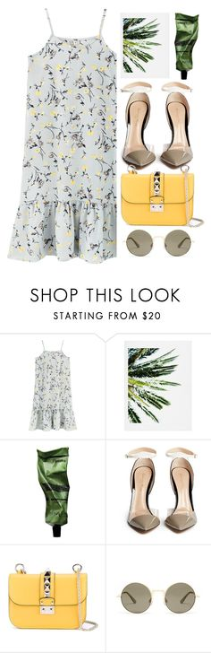 """Summer vibes"" by speaknow227 ❤ liked on Polyvore featuring DENY Designs, Aesop, Gianvito Rossi, Valentino, Le Specs, Summer, outfit, floral, dress and summerstyle"