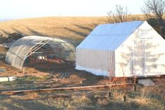 tips on building hoop house with chain link fence top rails as ribs