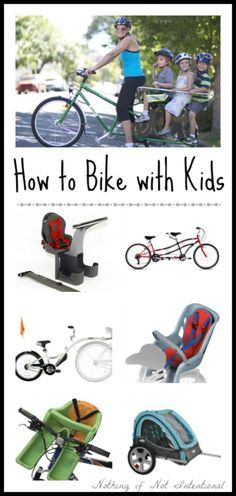 Bike Seats, Tagalongs, Trailers, & Cargo Bikes--A Guide to Biking with Kids. This post compares all of the options to make your decision easier!