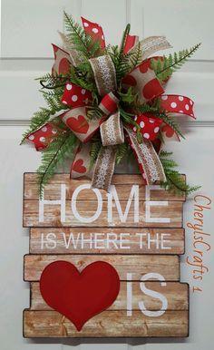 Door Hanger,Spring Door Hanger,Valentine Door Hanger,Welcome Door Hanger by CherylsCrafts1 on Etsy
