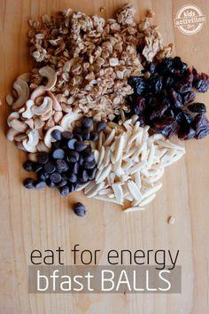 energy breakfast balls- minus granola and chocolate. Add coconut