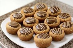Peanut Butter Fudge Cups are peanut butter cookies filled with a simple chocolate fudge! Delicious flavor combination in these amazing cup butter softened {or coconut o… Easy Chocolate Fudge, Chocolate Chip Cookie Bars, Chocolate Cheesecake, Chocolate Desserts, Cheesecake Dip, Peanut Butter Cup Cookies, Butter Cookies Recipe, Peanut Butter Fudge, Coconut Cookies