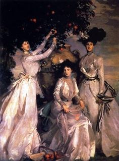 John Singer Sargent -The Acheson Sisters, 1902 Portrait of the Ladies Alexandra, Mary and Theodosia Acheson, granddaughters of Louise, Duchess of Devonshire by her first marriage to the Duke of Manchester Paintings I Love, Beautiful Paintings, Oil Paintings, Tableaux Vivants, Sargent Art, Beaux Arts Paris, American Artists, Painting & Drawing, Painting Videos