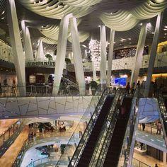Very busy shopping mall interior design, iapm Shanghai.