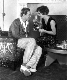 Joan Crawford and Douglas Fairbanks Jr.,  New Year's Eve 1928