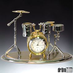 mini drum set clock. http://www.pinterest.com/TheHitman14/music-paraphernalia/