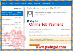 Online Job Payment from Traffic Producing Website.   Expense your to money making traffic product like advertisement package and get revenue return upto 110%.  It's mean free to advertise your Click Bank Product or any affiliate product to earn big big money.