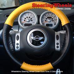 Volkswagen Genuine Leather Black Wheelskins Steering Wheel Cover-Size AXX