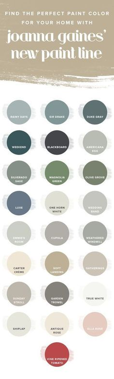 A fresh coat of paint might just be the secret to instantly making your home feel refreshed. /joannagaines_/ has a new paint line with beautiful color ideas for your home. From the living room to the bedroom to the exterior, take a look for some paint color ideas and inspiration.
