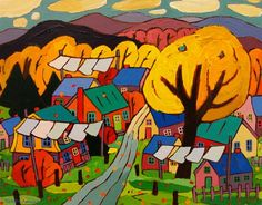 Terry Ananny,The Gatineau Hills In Fall Canadian Art, Fall, Painting, Image, Autumn, Fall Season, Painting Art, Paintings