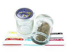 Nebraska Design Pop Top Glass Stash Jar Storage With Free 6 Labels Item # PGJ81115-44