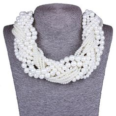 New Hot Bohemia Style Multilayer Pearl Necklace Fashion Joker Statement Necklace For Women Wholesale  XL59451-in Chain Necklaces from Jewelry on Aliexpress.com | Alibaba Group