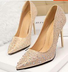 Decollete-Scarpe-decolte-donna-tacco-spillo-10-5-cm-stiletto-moda-oro-8613
