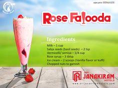 Quick Bite! Rose Falooda - Beat the heat with this simple delicious creamy dessert.  #srijanakiram #Rose #Falooda #quick_bite