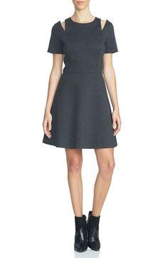 1.STATE Shoulder Cutout Fit & Flare Dress available at #Nordstrom