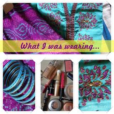 What I was wearing for Rakhi. OOTD & What i was in my make up bag!!!