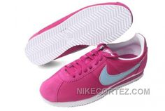 best service 4b1c5 01722 Nike Classic Cortez Nylon Women Rose Red Baby Blue Hot Shoes Cheap Nike  Running Shoes,