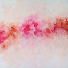 Abstract Giclee Print on Canvas Peony Print Fine by JuliaBarsArt