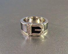 vintage southwest silver ring handmade artisan snake size 9 band designer signed LP 925