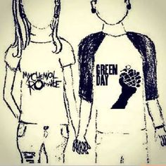 you and me listening to green day and mychemical romance <3