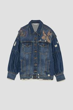 Embellished Denim Jackets - Zara