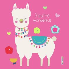 llama pink illustration Alpacas, Cute Wallpaper Backgrounds, Cute Wallpapers, Iphone Wallpaper, Llama Birthday, Unicorn Birthday Parties, Llamas Animal, Llama Images, Kids Name Labels